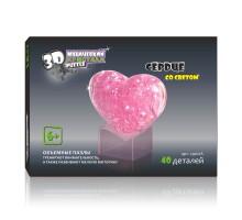 3D Crystal Puzzle Сердце со светом 29021A