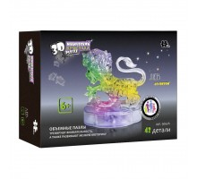 3D Crystal Puzzle Знаки Зодиака Лев со светом(9052A)