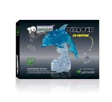 3D Crystal Puzzle Дельфин на подставке со светом 29022A (YJ6917)