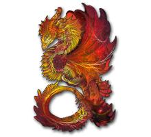 Пазл Красный Дракон
