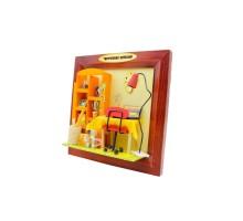 Румбокс Интерьерный конструктор Hobby Day DIY MiniHouse, Настенная рамка-открытка «Творческих успехов!», 13632