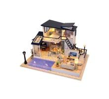 Румбокс Интерьерный конструктор Hobby Day DIY MiniHouse, Вилла с бассейном, 13849