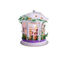 Румбокс Интерьерный конструктор Hobby Day DIY MiniHouse, Свадебный фонарик (с фигурками), I003