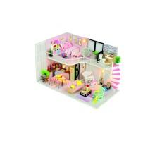 Румбокс Интерьерный конструктор Hobby Day DIY MiniHouse, Розовый лофт, M035