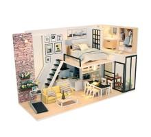 Румбокс Интерьерный конструктор Hobby Day DIY MiniHouse, Студия в стиле модерн, M038