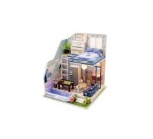 Румбокс Интерьерный конструктор Hobby Day DIY MiniHouse, Неоновый лофт, M042