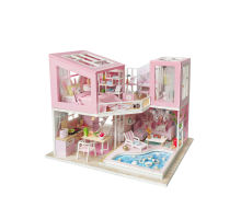 Румбокс Интерьерный конструктор Hobby Day DIY MiniHouse, Розовый фламинго,  M915