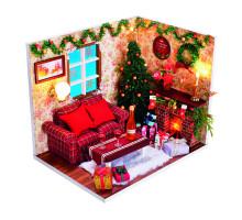 Румбокс Интерьерный конструктор Hobby Day DIY MiniHouse, Новогодняя сказка,  PC2008