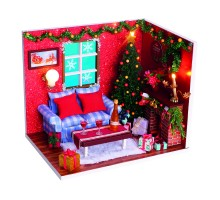 Румбокс Интерьерный конструктор Hobby Day DIY MiniHouse, MiniHouse С Новым годом!,  PC2009