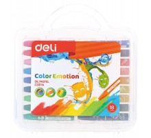 Масляная пастель Deli EC20114 Color Emotion шестигранные 18цв. пл.кор.